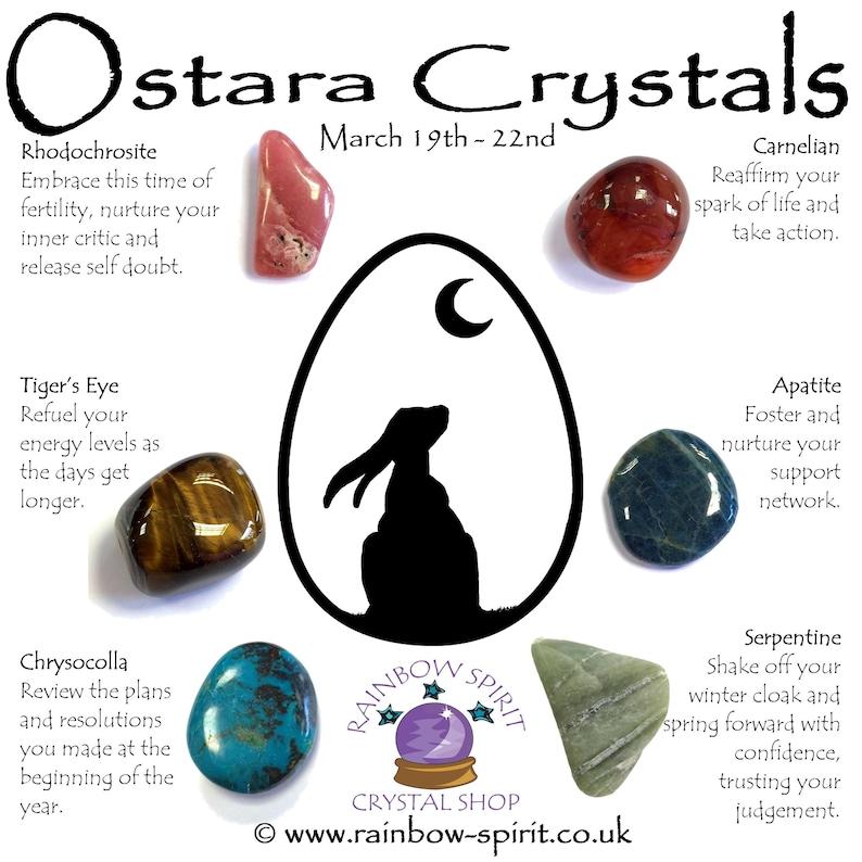 Spring Equinox Ostara Crystal Set