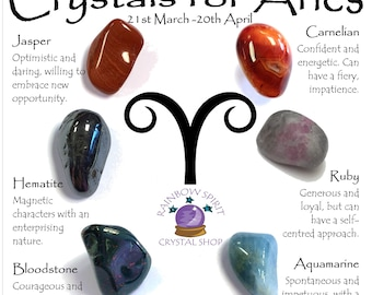 Aries Birthstones Crystal Set