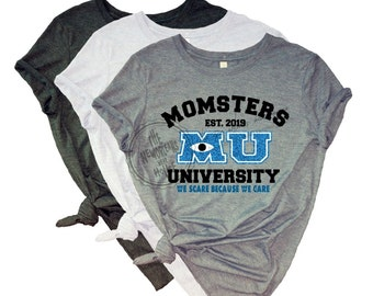 3588ce22a MOMSTERS University | Monsters Inc Shirt | Mickey is my Boo | Disney  Vacation Shirt | Monsters University Shirt | Disney Shirt