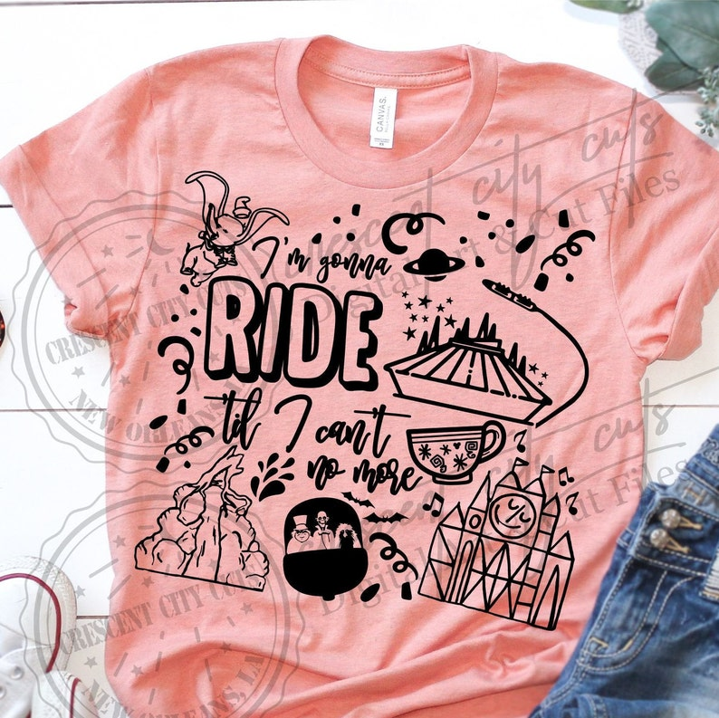 23749b121a619 I'm Gonna Ride Til I Can't No More   Disney Rides Shirt   Disney Vacation  Shirt   Theme Park Shirt   Disney Shirt   Old Town Road
