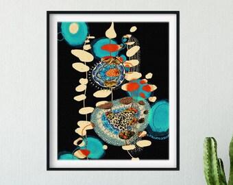 Carbon Lights: Abstract Fine Art Print