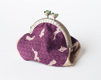 White Rabbit Vintage Style Coin Purse (Purple)