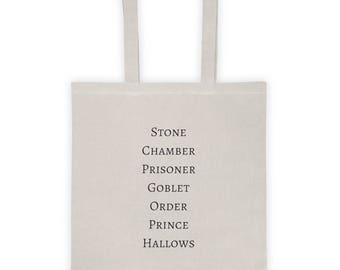 Harry Potter Series Inspired Tote bag
