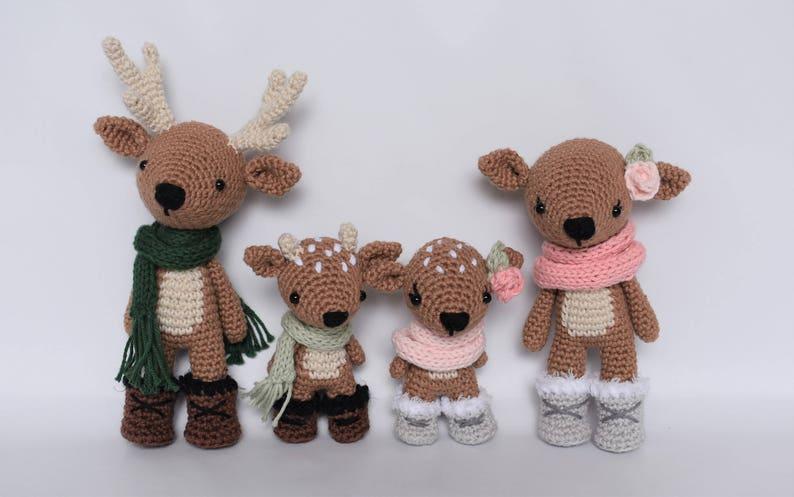 Deer Family Crochet Amigurumi Pattern / Photo Tutorial image 0