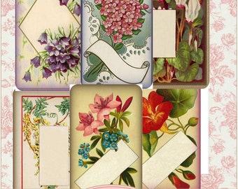 Floral Collage Frames Instant Download