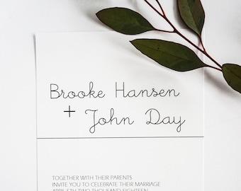 Modern Wedding Invitation |