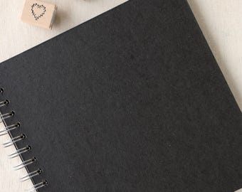 Scrapbook | Make Your Own Journal, Photo Album or Wedding Guest Book | Black