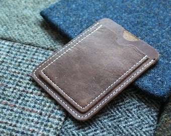 Light Brown Slim Leather Card Wallet - Mens Accessories, Gifts, Wedding and Style.