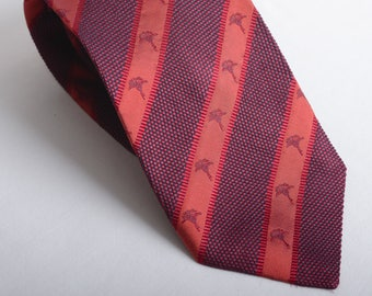 Vintage JOOP! Tie Cravate with Joop-Cornflower allover - Striped - Italy-made - 100% Silk