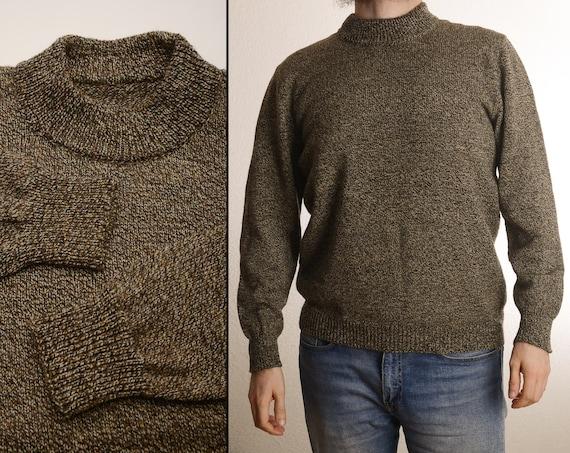 Vintage 50s-60s Sweater - Homemade - Heathered