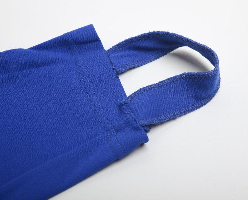 Vintage 60s Stretchy and Sporty Stirrup Pants Blue