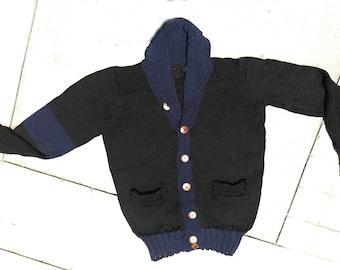 Hypoallergenic Deluxe Peruvian Royal Super Baby Alpaca Shawl Cardigan Sweater Jumper, 2.29 Lbs- 1.15 kg, Handmade, Organic, Silky, Thermo