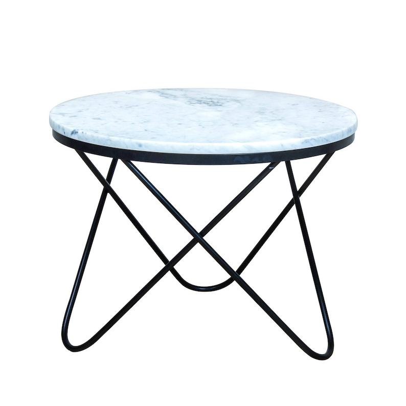 Sale Round White Marble Coffee Table Parabola Genuine Etsy