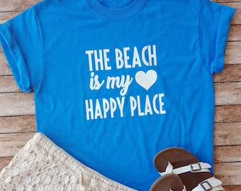 The Beach Is My Happy Place T-shirt or Tank Top