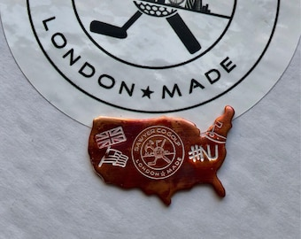 Copper - UK to USA - Golf Ball Marker