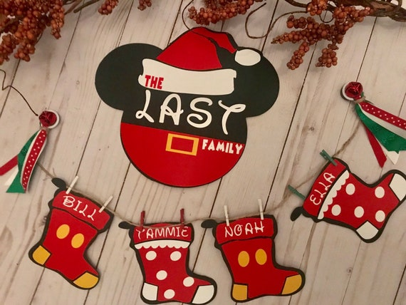 Disney Crusie Door Decor Merry Time Christmas Stateroom Door Decorations Family Magnets Disney Family Christmas Mickey