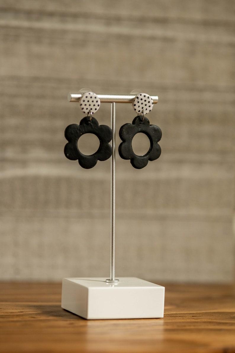 Sofia Polymer Clay Flower Dangle Earrings