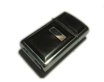 Zippo Lighter Slimline Black/Chrome