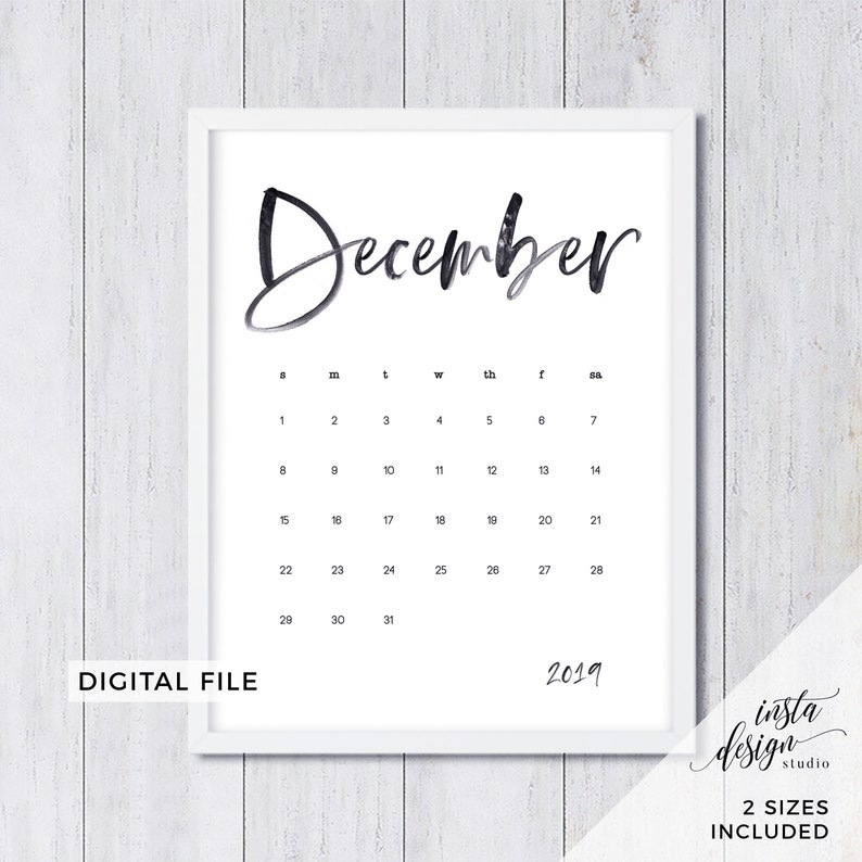 photo regarding Free Printable Pregnancy Announcements referred to as DECEMBER 2019 printable being pregnant youngster announcement calendar social media flat lay image prop thanks day help you save the day electronic history obtain