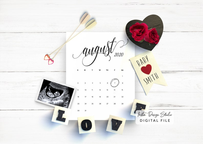 VALENTINES DAY custom digital pregnancy announcement for image 0