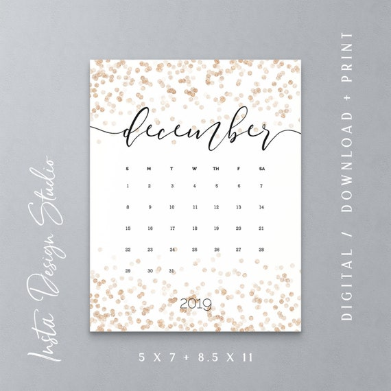 photo regarding Printable Baby Announcement identified as DECEMBER 2019 printable being pregnant kid announcement calendar social media Clean Calendar year photograph prop owing day help you save the day custom made day