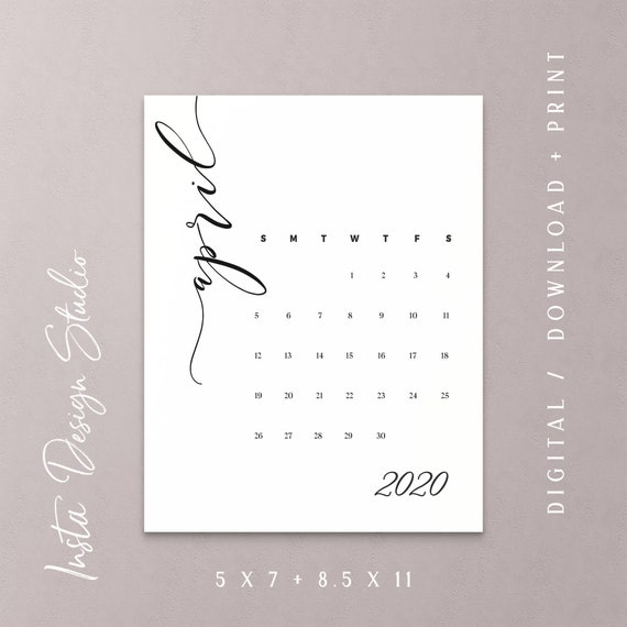 image about Printable Baby Announcement named APRIL 2020 printable being pregnant little one announcement calendar social media flat lay picture prop thanks day help save the day electronic record down load