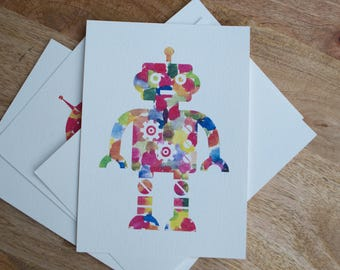 Watercolor Robot Print 2