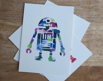 Watercolor Robot Print 4