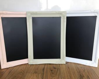 Ornate frame chalkboard A3 wedding, memo board