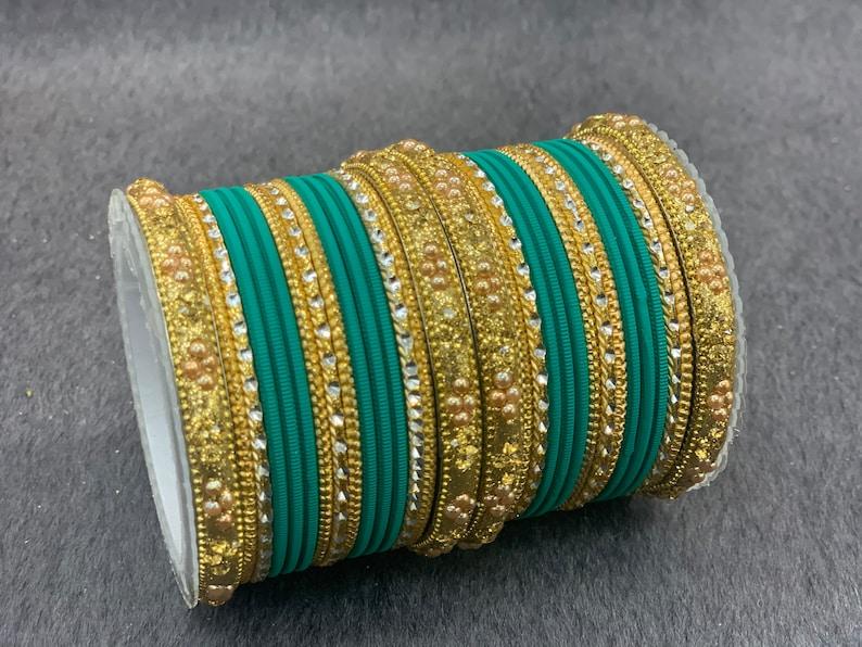 Indian bangle set Bridal bangles Traditonal wedding jewelry Metal bangles Fashion bracelets