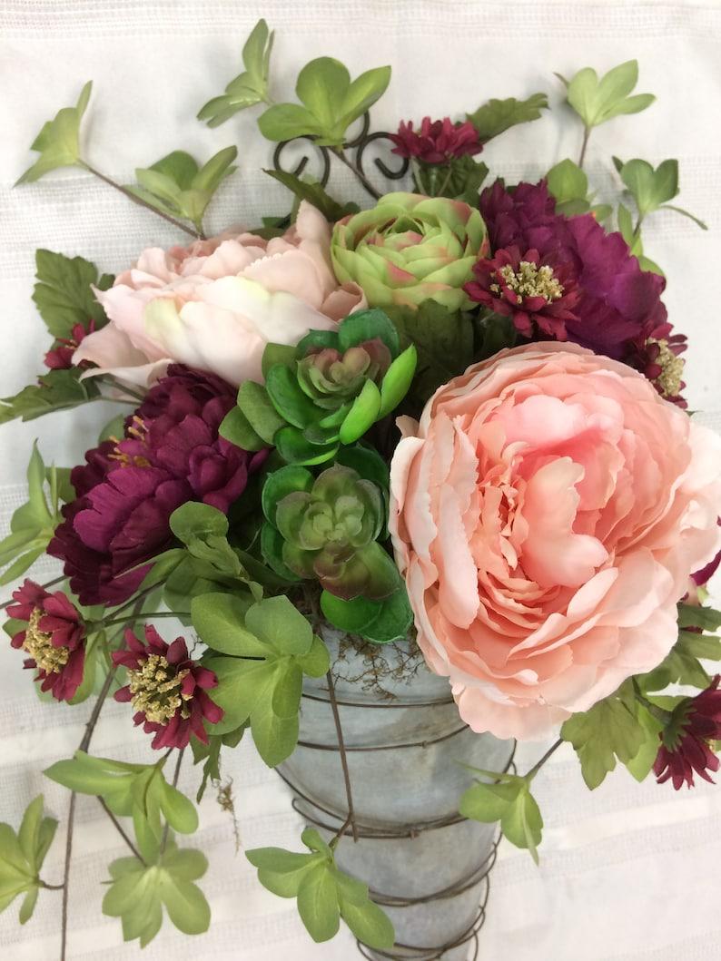 Artificial Floral Arrangement Summer Wall Decor Door Hanger Artificial Succulent Arrangement Succulent Arrangement