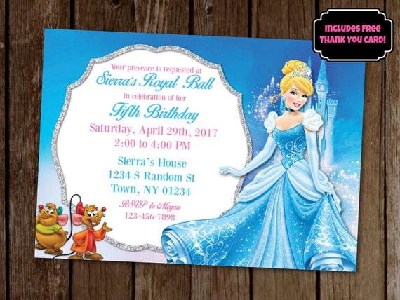 Cinderella Invitation Cinderella Birthday Party Invitation Etsy