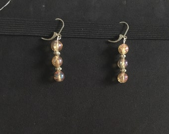 Golden shimmer earrings