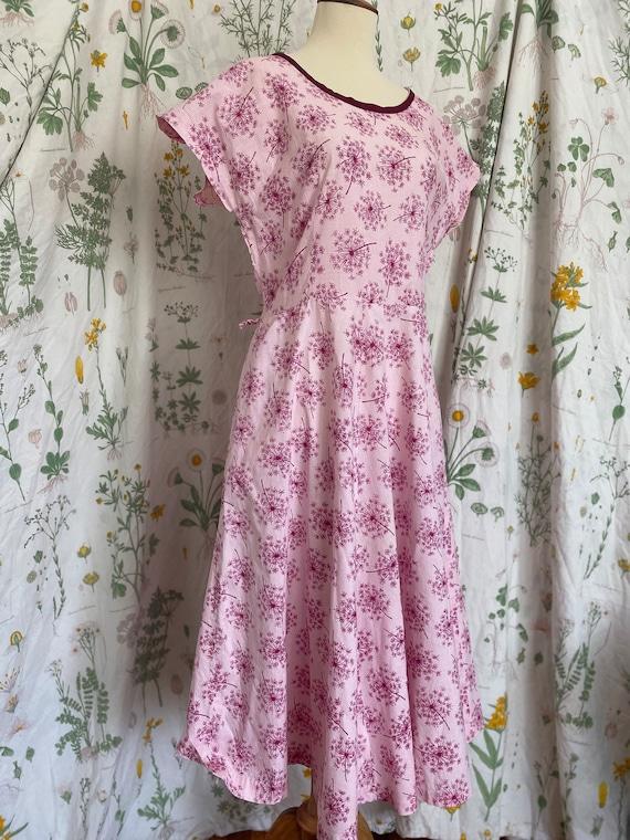 Vintage 40s 50s Rosalee Magenta Pink Dandelion Pri