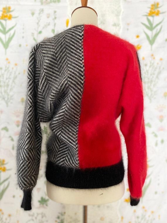 Vintage 80s Pavvia Fluffy Angora Twin Peaks Red B… - image 4