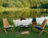 Bentwood Cherry Fire-Pit and Patio Chairs