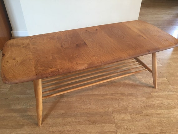 Astonishing No 398 Occasional Ercol Coffee Table In Elm Beech Vintage 1958 1961 Blue Label Original Restored Alphanode Cool Chair Designs And Ideas Alphanodeonline
