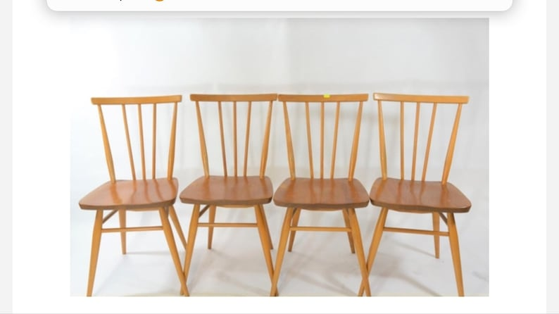 premium selection 7d3f6 fbb6e 391 Ercol dining chairs   Mid Century Modern original vintage   Ercol  Stickback Chairs x 4