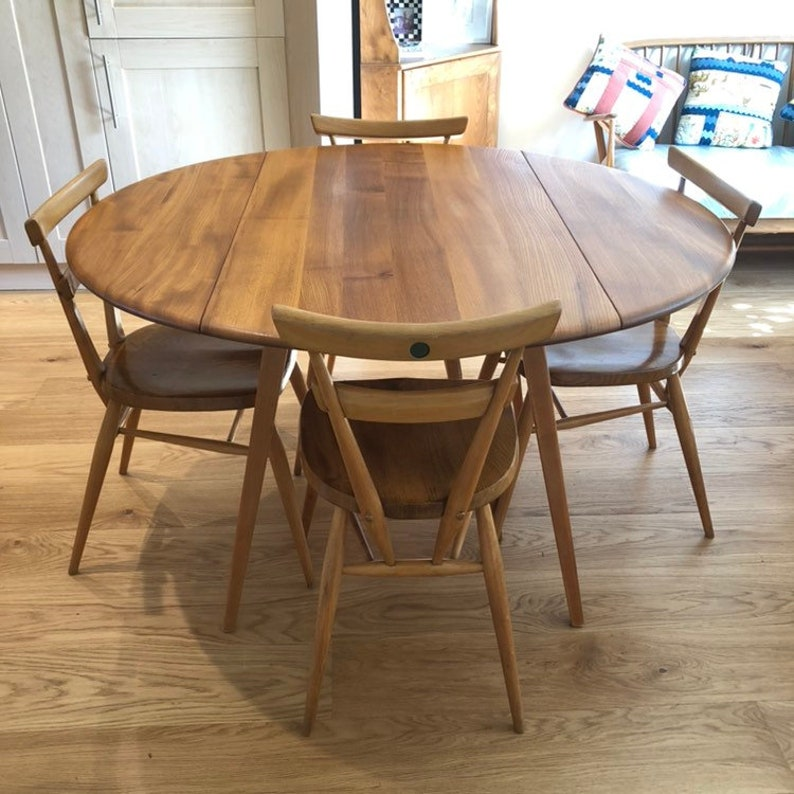Miraculous Drop Leaf Blonde Ercol Table 384 Light Finish 1960S Fully Restored Extending Ercol Table Download Free Architecture Designs Salvmadebymaigaardcom