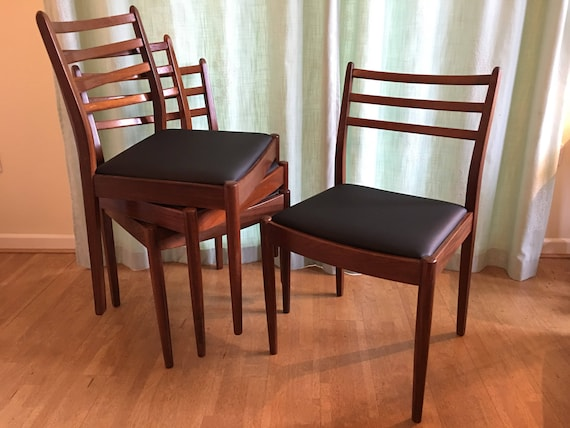 Wondrous 4 G Plan Chairs Solid Teak Dining Chairs New Upholstery 1960S Mid Century Modern Your Choice Of Fabric Frankydiablos Diy Chair Ideas Frankydiabloscom