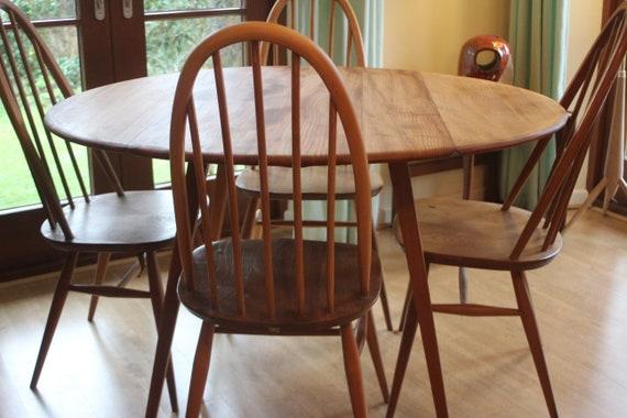 Stupendous Ercol Drop Leaf Mid Century Retro Elm Beech Extending Dining Table 1960S Fully Restored Download Free Architecture Designs Salvmadebymaigaardcom