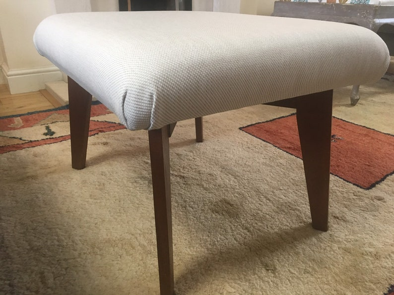 Home & Garden Reupholstered Footstool Stool Upcycled Shabby Chic