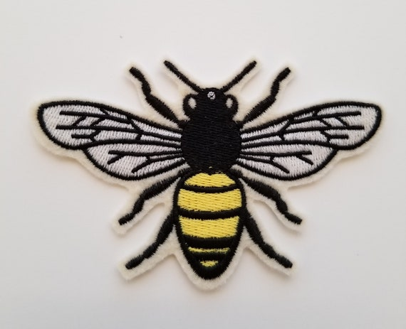 """Insect Bug Badge 3//4/"""" Mini Bumblebee Applique Patch 3-Pack, Iron on Bee"""