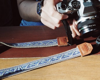 Quechua with Beige - Camera strap