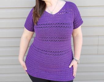 Crochet Pattern, Crochet Top Patterns For Women, Crochet Blouse Pattern, Crochet Summer Top Pattern, Hilo Tunic