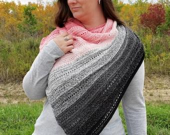Crochet Shawl Pattern, Crochet Shawl Summer, Crochet Shawl Wrap, Crochet Triangle Shawl Pattern, Crochet Shawl Women, Effortless Shawl