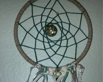 Silver Blue Dream Catcher