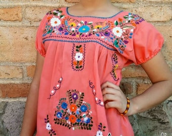 3a55e91ea2b98 Mexican Hand embroidered puebla blouse ALL SIZES Mexican Belt included PLUS  Sizes Available