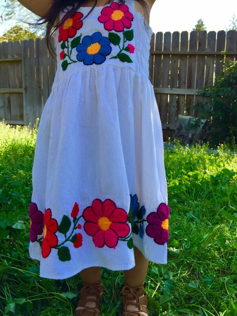 99731dff3c7 Mexican Hand Embroidered Child Dresses Size Newborn to 8 Years