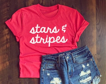 4th of July shirt - Stars & Stripes Shirt - USA - all American - July 4th  - Red White and Blue - Cool new tshirt - Fourth of July